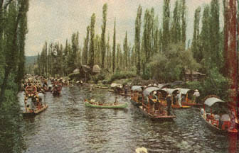Postcard View Of Xochimilco From The 50s