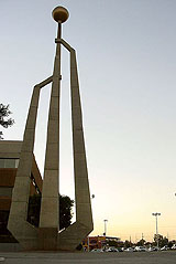 Monument to the four original municipalities in Baja, California, Mexicali