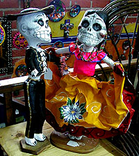 Paper puppets are part of the Day of the Dead celebration