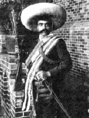 Famous pose of Emiliano Zapata