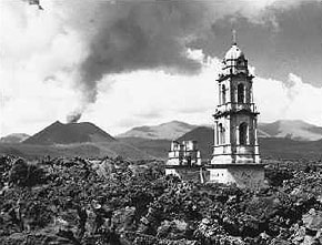 Paricutin, Church Buried by Lava Flow