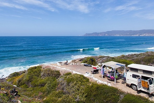 Playa Saldamando - Beachfront campground in Ensenada, Baja California