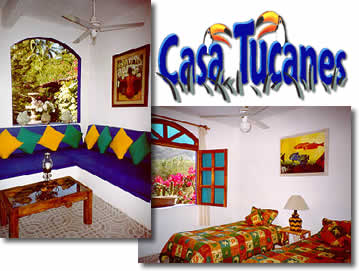 Casa Tucanes Vacation Rentals - Villas and Bungalows only minutes away from Zihuatanejo's favorite beach, Playa la Ropa