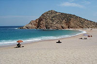 Beautiful Santa Maria beach, just outside Cabo San Lucas