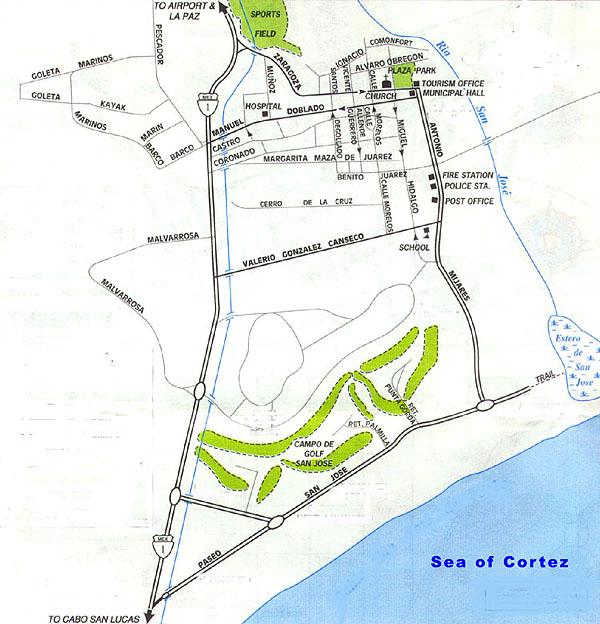 San Jose Del Cabo Mexico Map.Cabo San Lucas Directory Map Of San Jose Del Cabo Baja