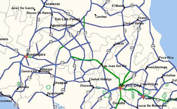 Map central mexico