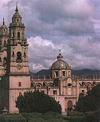 The cathedral of Morelia