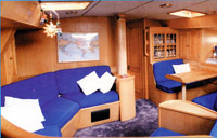 Interior view of our charter boat