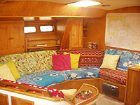 another interior view of our charter boat