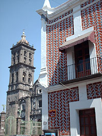 Cathedral and Correos, Puebla