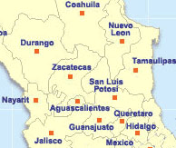 San Luis Potosi Directory From Mexonline Com Hotels Restaurants