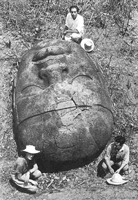 Olmec Head, 1942, Tabasco, Mexico
